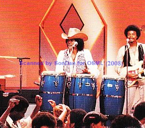 Bobby DeBarge playing congas on Soul Train with Switch