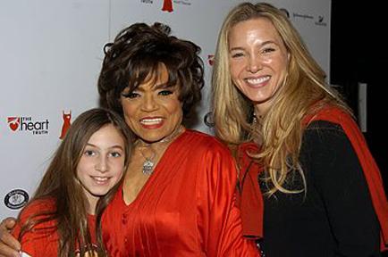Eartha Kitt with daughter Kitt Shapiro and granddaughter Rachel.
